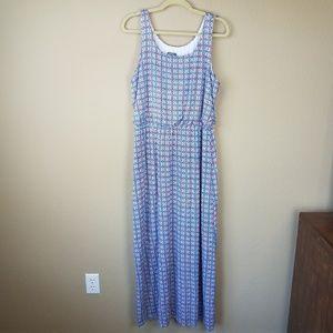 Market & Spruce Pink blue Maxi dress sz XL